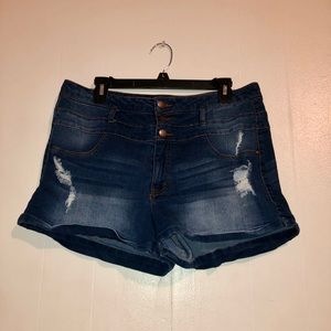 Charlotte Russe High-Waisted Jean Shorts